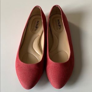 Coach red sparkle flats